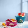 Tupperware Mediterrano-Set (2) Schüsselset in frischen Farben mit Fenstern