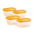 Tupperware Gelbes Eis-Kristall-Set 450 ml (4) gefrierbehälter Set