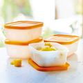 Tupperware Gelbes Eis-Kristall-Set 450 ml (4) Tolles Gefrierbehälter Set für Obst oder Gemüse