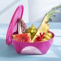 Tupperware Mediterrano 2,5 l Schöne Schüssel im aussergewöhnlichen eckigen Design für Obst