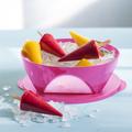 Tupperware Mediterrano 2,5 l Pinke quadratische Schüssel für Obst oder Salat