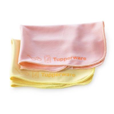 Tupperware 2 Chiffons à lunettes microfibres recyclées