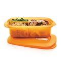 Tupperware MicroTup Ecki orange Speisen separat transportieren und erwärmen