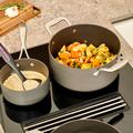 Tupperware Chef Series Cottage Cookware 4,9-l-Kasserolle Der Große mit Edelstahldeckel.