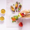 Tupperware Zoodelino Tagliatelle-Einsatz schnelle Gemüse-Nudeln mit dem Tagliatelle-Einsatz
