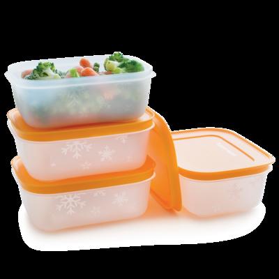 Tupperware Cajas de Congelación 450 mL (4)