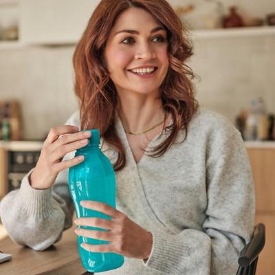 Tupperware Eco Garrafa 1 L (Azul Turquesa)